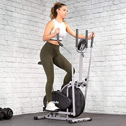 2in1 ELLIPTICAL CROSS TRAINER FITNESS EXERCISE STEPPER CARDIO WORKOUT LCD SCREEN