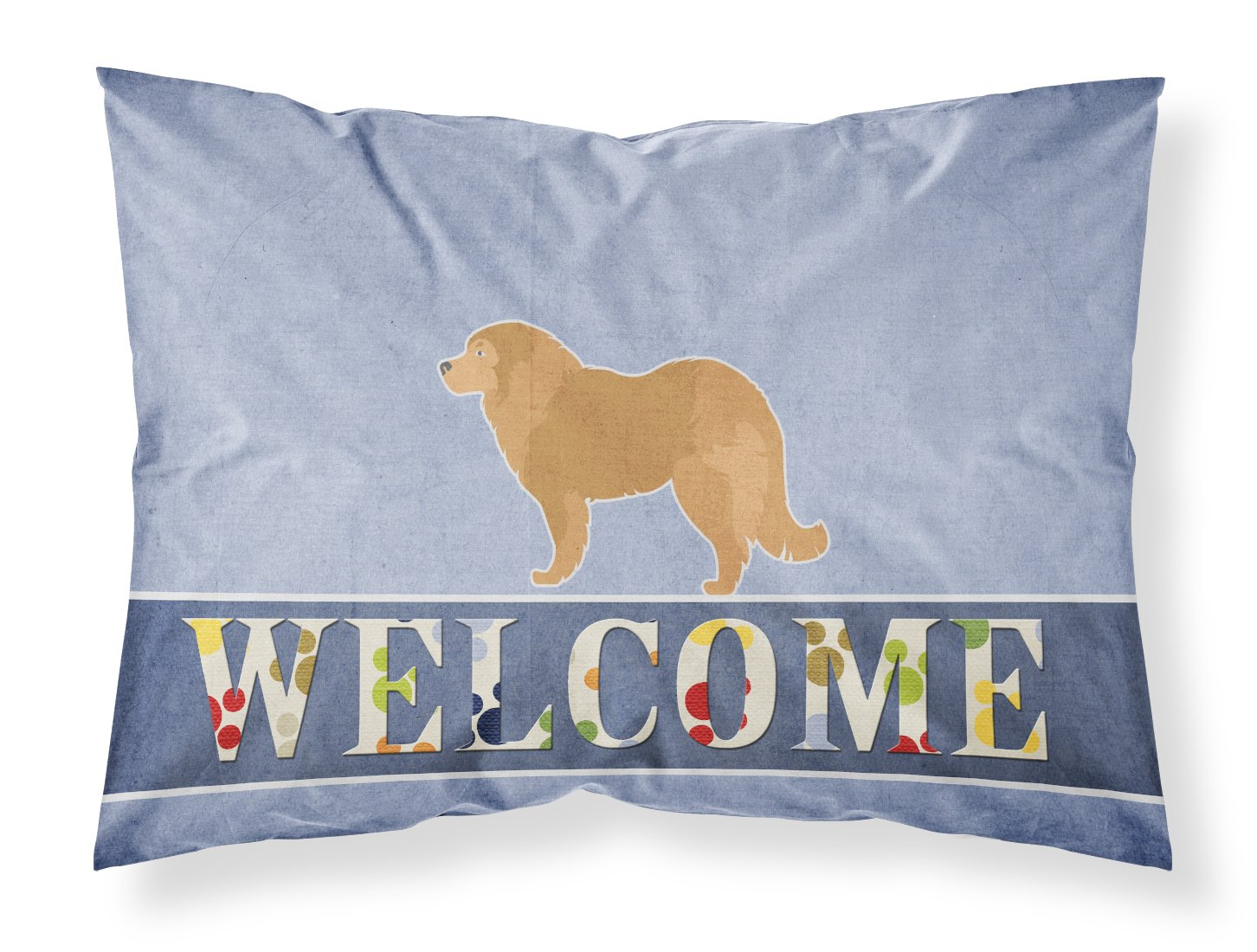 Carolines Treasures Caucasian Shepherd Dog Welcome Pillowcase Standard Multicolor
