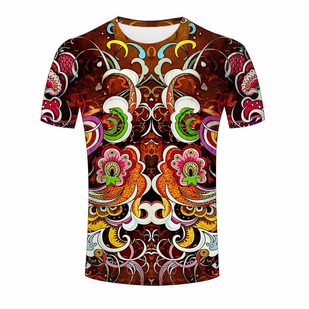New Women Men Hypnotic Tie-dye 3D Print T-Shirt Casual Short Sleeve Tops Tee