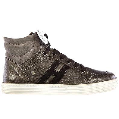 c0aa7b75d6661 Hogan R141 Basket Montante Enfant Grigio  Amazon.fr  Chaussures et Sacs