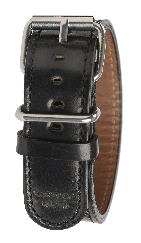 Bertucci b-199h Herren Typ D American schwarz Leder 22 mm Heritage horween Apex schwarz Pferdeleder Armbanduhr Band