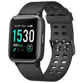 Letsfit Smart Watch for Android iOS Phone, IP68 Waterproof Fitness Tracker Watch with Heart Rate Monitor, Step Counter, Sleep Monitor, Pedometer ...