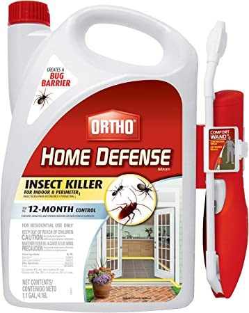 Amazon Com Ortho Home Defense Max Insect Killer For Indoor Perimeter1 With Comfort Wand Kills Ants Cockroaches Spiders Fleas Ticks Other Listed Bugs Creates A Bug Barrier 1 1 Gal