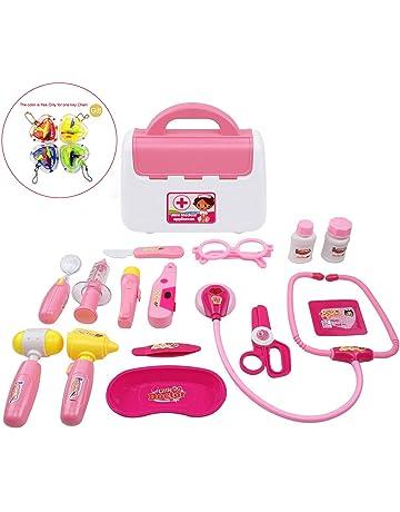 WoBoSen Valigetta Dottore Giocattolo Borsa Dottore Gioco Kit Set 16 Pezzi  per Bambini 3 Anni 9067c49560cb