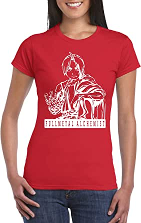 Female Gildan Short Sleeve T-Shirt - Full meatal alchemist design