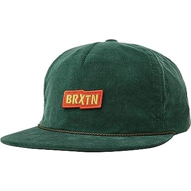 Brixton Gorra Snapback Topper HP sin estructurar de Pana Verde Oscuro - Ajustable: Amazon.es: Ropa y accesorios