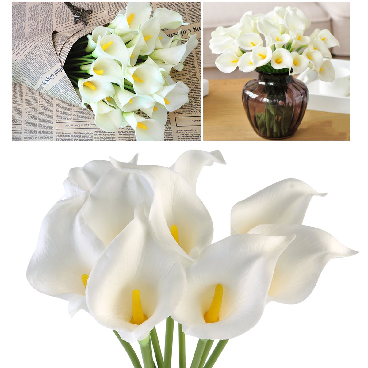 Amazon Oulii Artificial Flowers Nearly Natural Lily Bridal