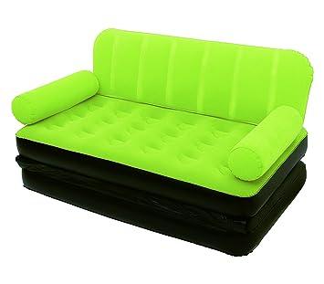 67356 Sofá relax dos en uno inflable BESTWAY dos posiciones 188x152x64cm - Verde: Amazon.es: Deportes y aire libre