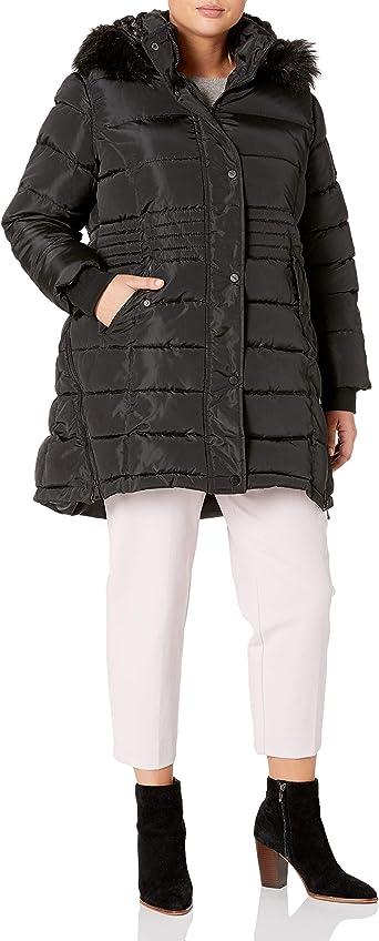 BeBe Womens Outerwear Womens Plus Size Puffer Jacket