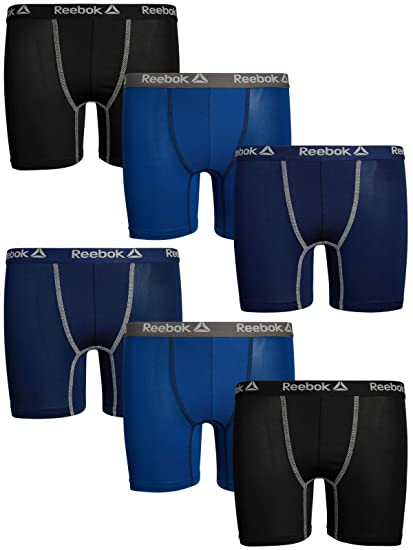 1899bc674bdc2 Reebok Boys 6 Pack Performance Boxer Briefs