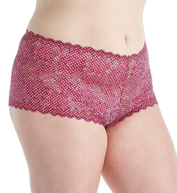 6ae03202e Deesse New 50 s Lace Plus Size Brazilian Panty (765701) 2X Lipstick ...