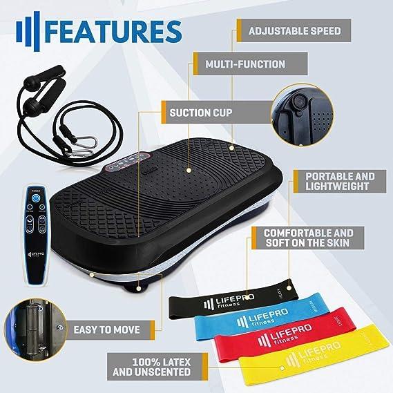 Amazon.com: LifePro máquina de ejercicio con placa de ...