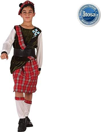 Atosa-6127 Disfraz Escoces, Color Rojo, 3 a 4 años (6127): Amazon ...
