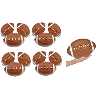 INFLATABLE FOOTBALLS 1DZ~ Beachball Inflates ~ 16 Inches ~Birthday Favor Toy Pool Party Beach outdoor Water Sports Play Gift: Toys & Games