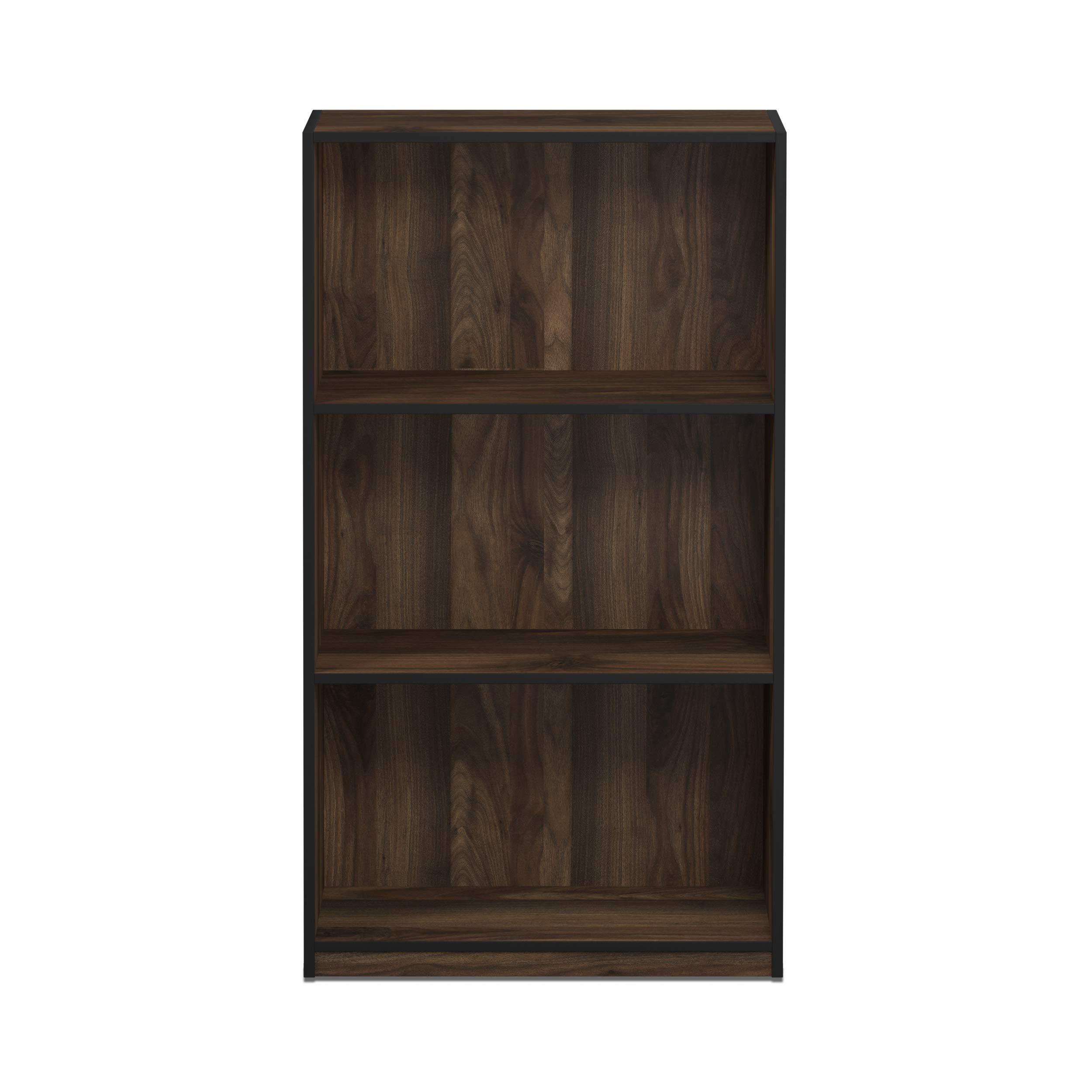 Furinno 99736CWN Basic 3-Tier Bookcase Storage Shelves, Columbia Walnut by Furinno (Image #3)