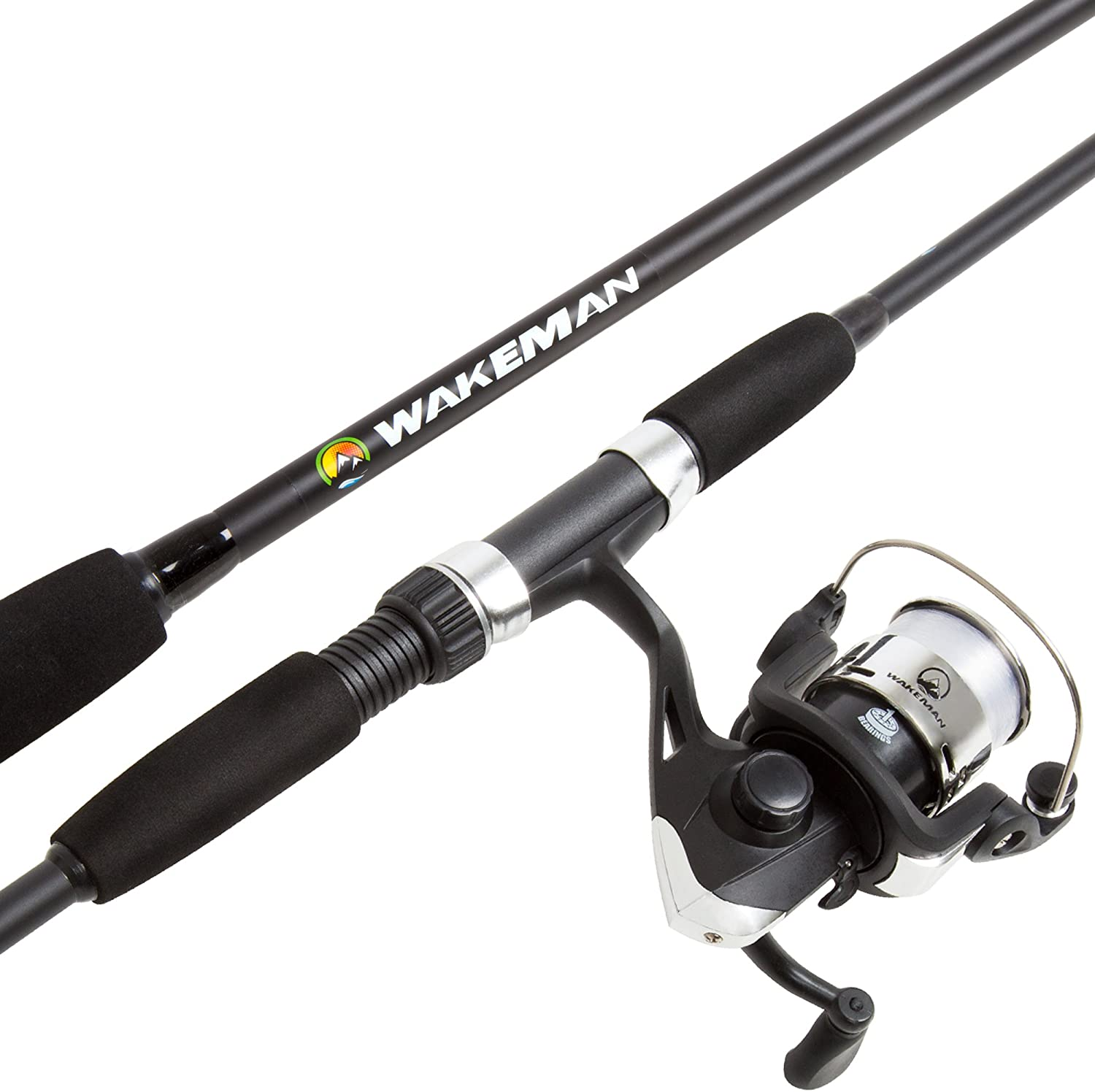 Amazon Com Wakeman Swarm Series Spinning Rod And Reel Combo Blackout Clothing