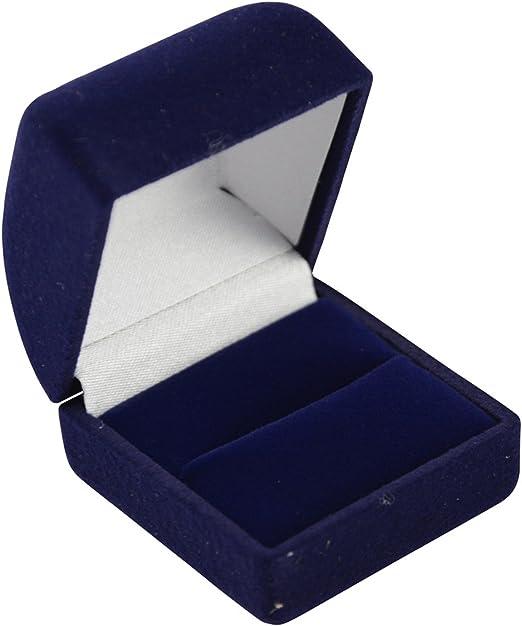 Hermosa caja de terciopelo sintético para anillo de boda, caja de ...