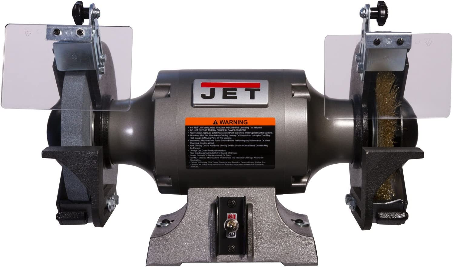 Jet 577128 Shop Grinder with Grinding Wheel & Wire Wheel