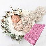 Pink 新生児 赤ちゃん ニューボーンフォト ストレッチ メッシュ ラップ アクリル繊維 ベビーラップ スワドル swaddle 伸縮 お包み おくるみ 50x155cm 記念撮影 スカーフ ソフト 肌に優しい 0-12ヶ月 10色から (Pink)