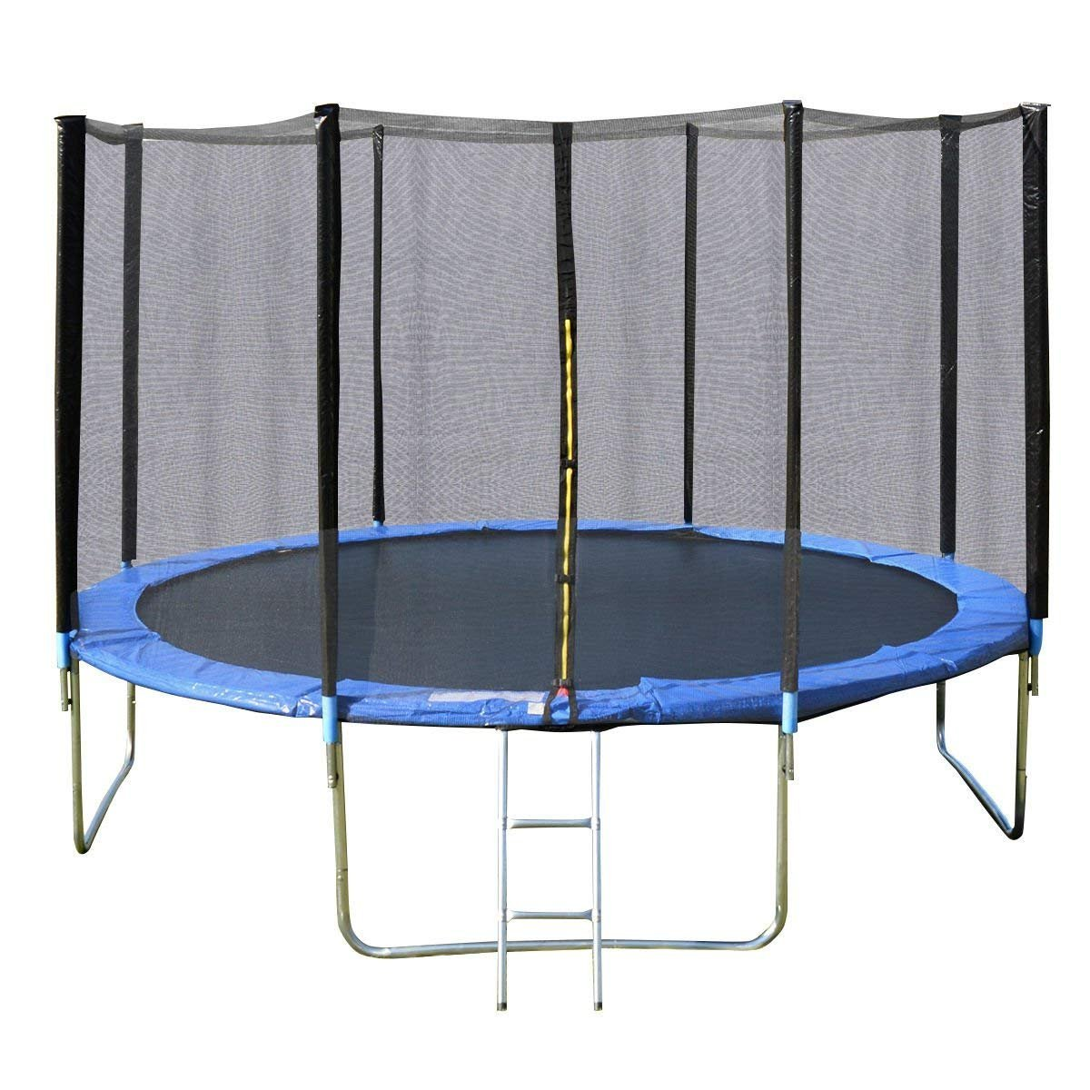 Giantex Outdoor Trampoline Bounce Jumping Trampolines W/Safety Pad Enclosure Net & Ladder,14 FT