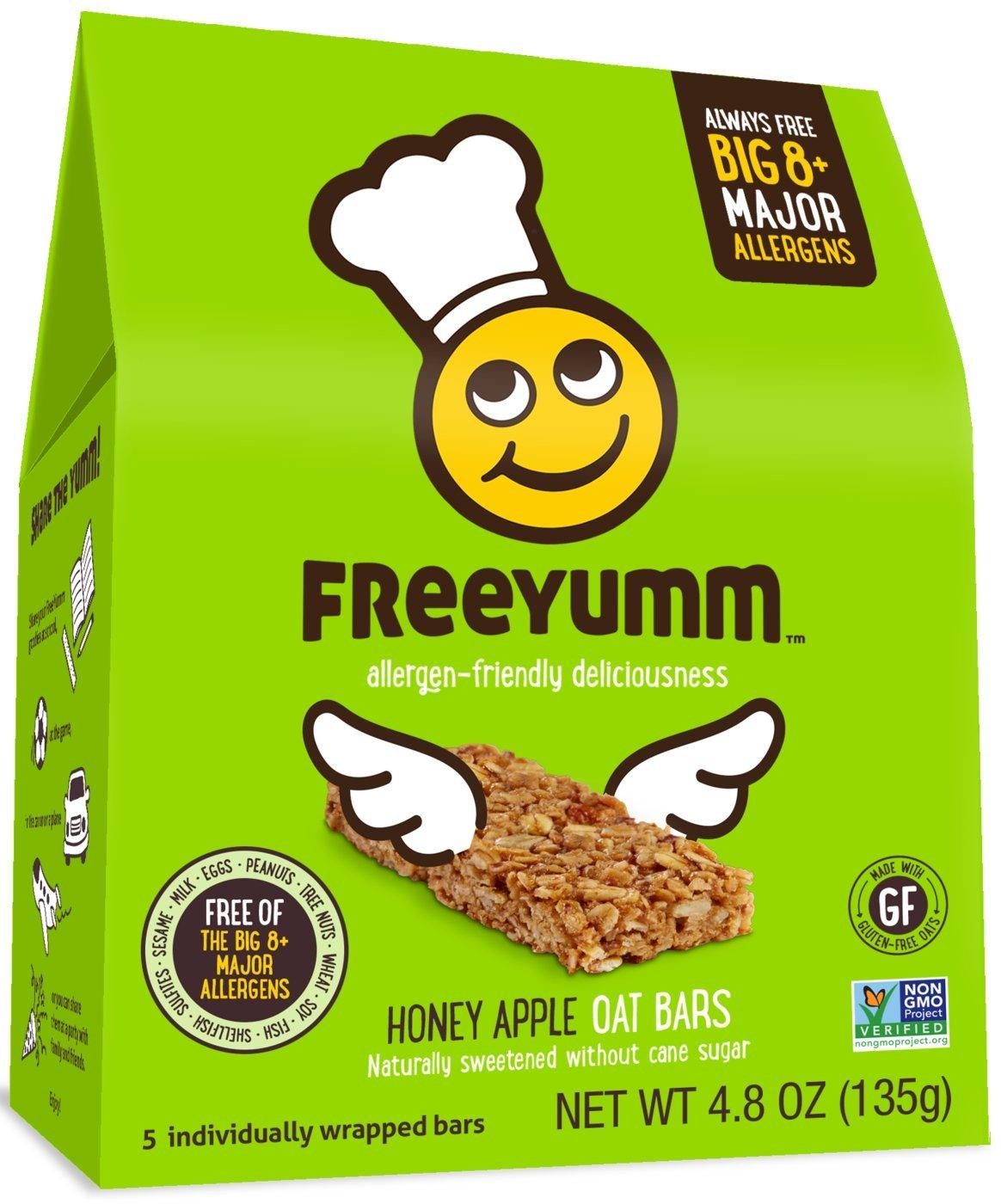 Allergen Free Honey Apple Oat Bars, School Safe Allergy Friendly Snack Food for Kids, Total of 15 Bars