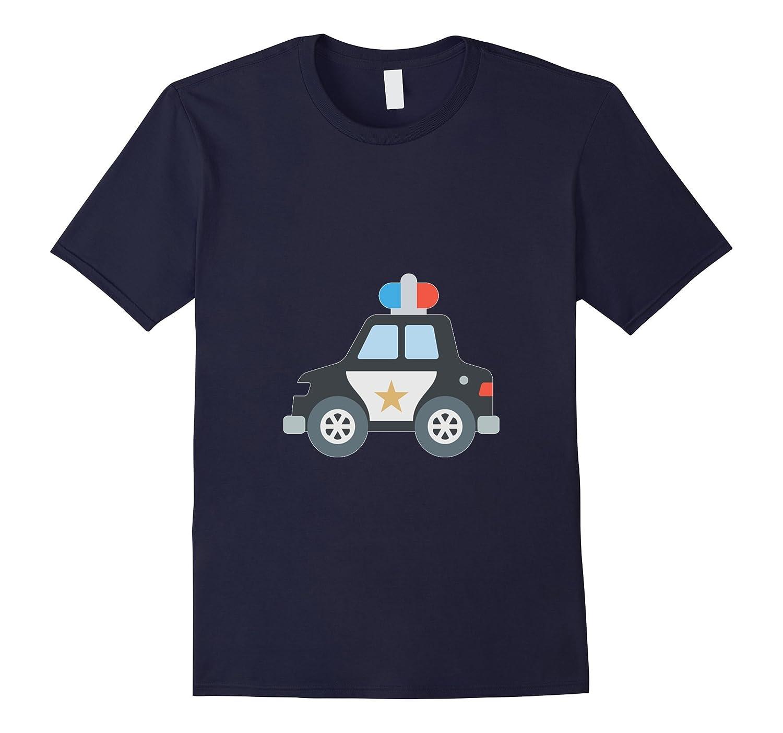 Police Car Emoji T-Shirt Siren Officer Policeman Emoticon-TD
