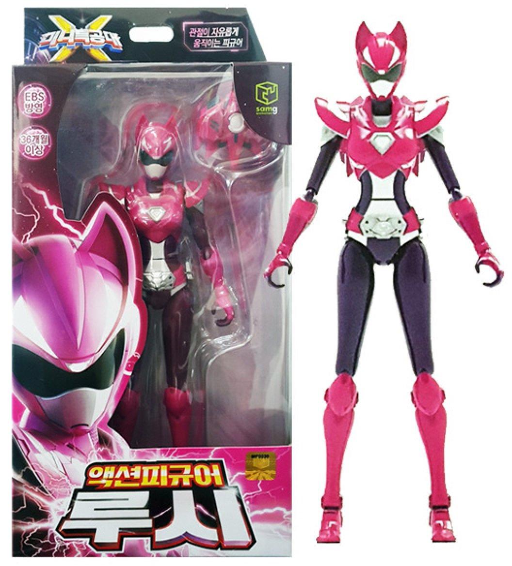 MINI FORCE 2018 New Version Miniforce X Lucy Korean Robot Action Figure Pink 6.9 Joints Move Gaia