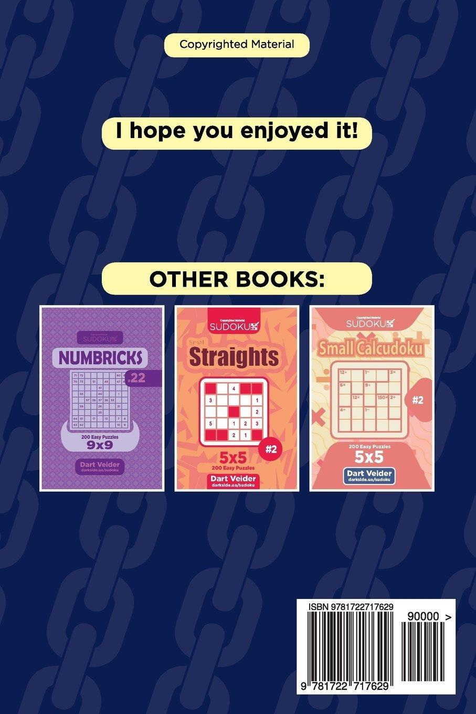 Small Chain Sudoku - 200 Easy Puzzles 5x5 (Volume 9): Dart Veider ...