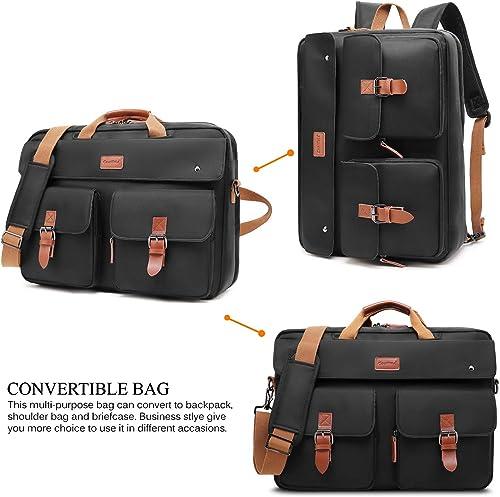CoolBELL Convertible Messenger Bag Backpack Laptop Shoulder Bag Business Briefcase Leisure Handbag Multi-Functional Travel Bag Fits 17.3 Inch Laptop