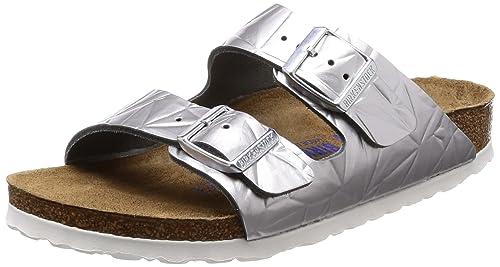 DONNA BIRKENSTOCK ARIZONA DUE Sandali con cinturino Spectral argento sandali