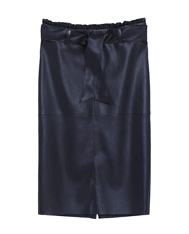 Zara Gonna Donna Nero XS: Amazon.it: Abbigliamento