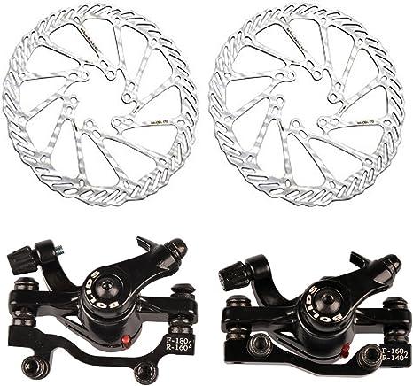Freno de disco mecánico para bicicleta de montaña f-160 mm/r-140 ...