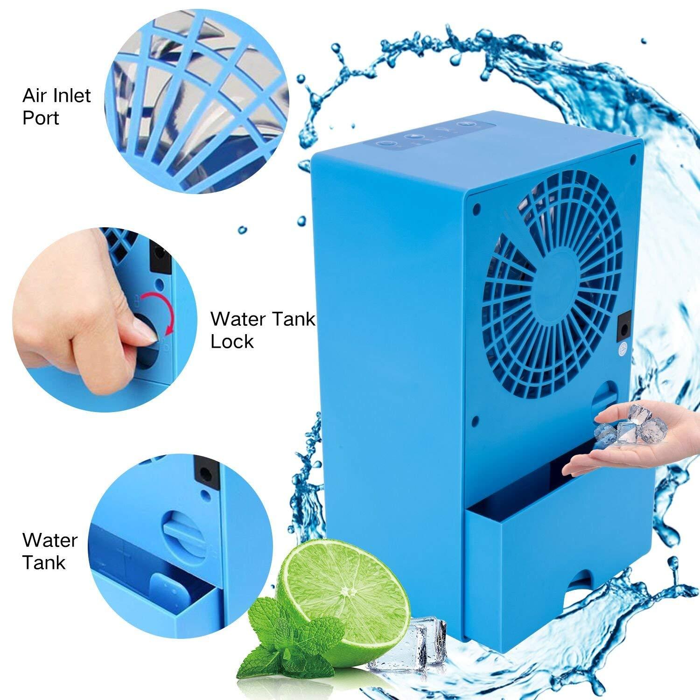 Personal Space Air Cooler Small Desktop Fan Compact Super Quiet Desktop Cooling Fan Mini Evaporative Air Circulator Cooler Humidifier Portable Air Conditioner Fan