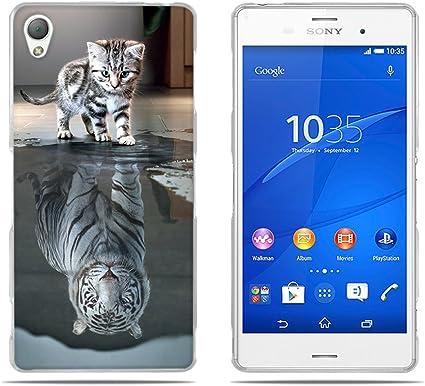 FUBAODA Fundas Carcasas para para Sony Xperia Z3, Gel de Silicona ...