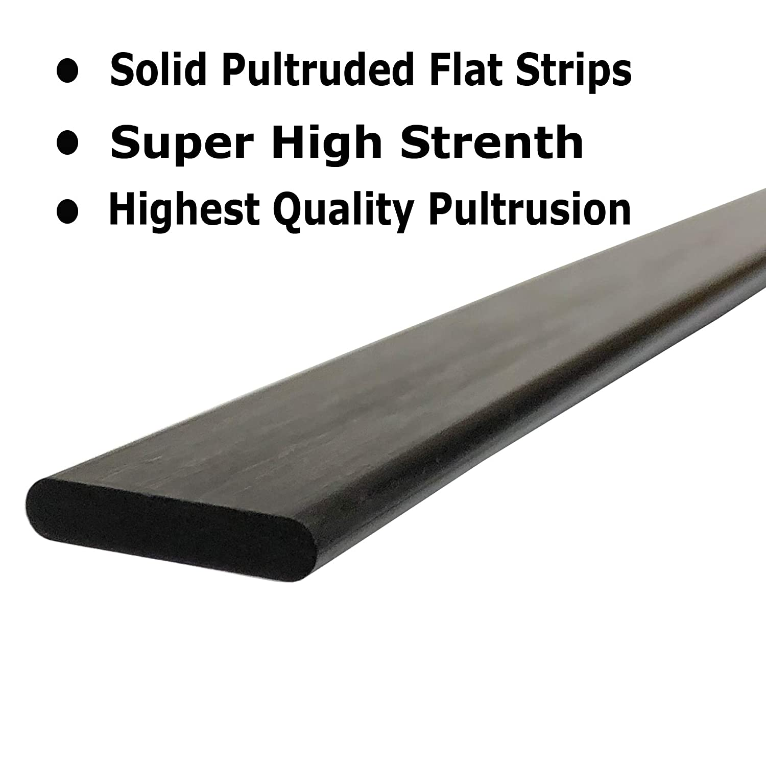 1 Radio Controlled Vehicles PULTRUDED-Flat Carbon Fiber Bar Used for Drones 100/% Pultruded high Strength Carbon Fiber Projects requiring high Strength Components 4mm x 20mm 1000mm