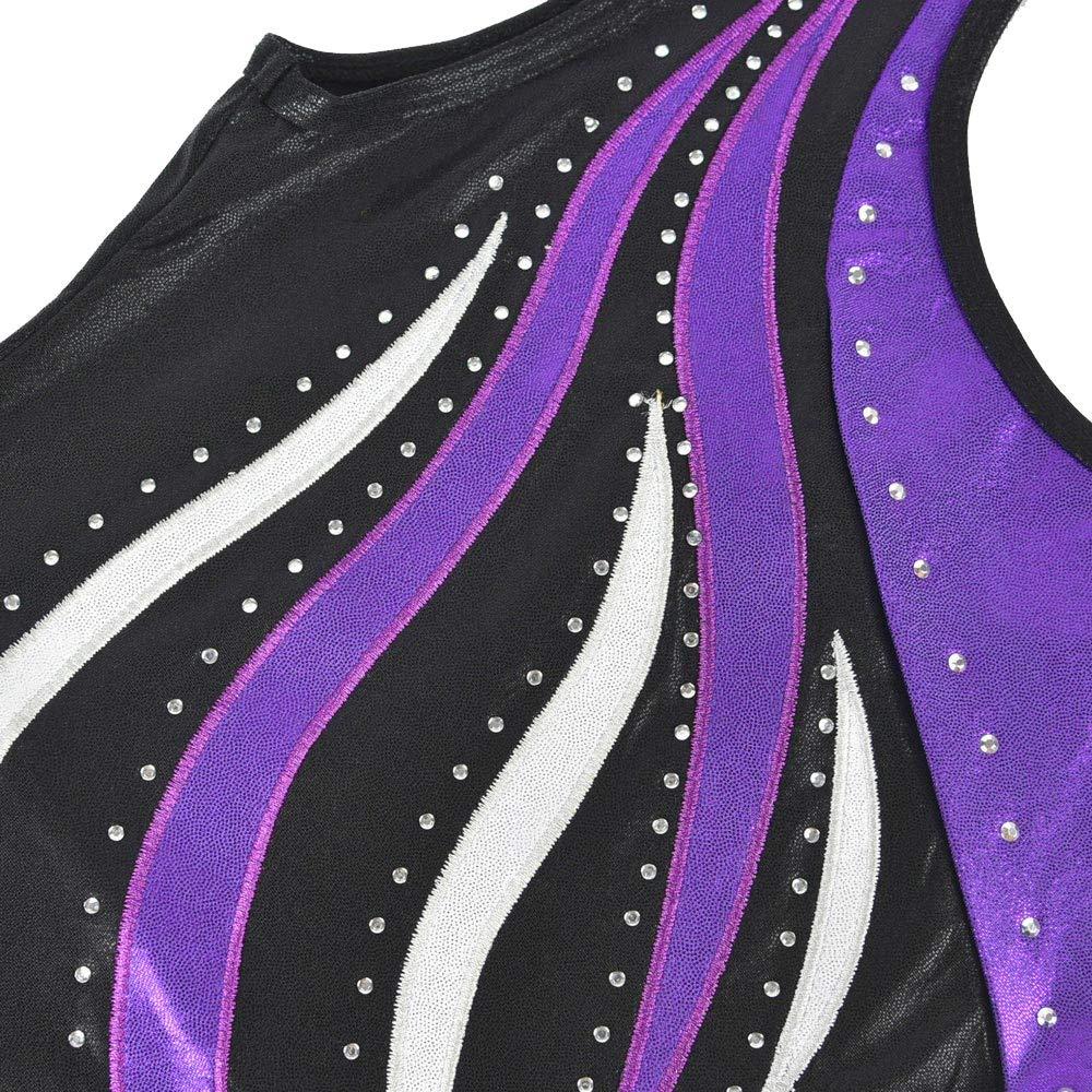 Happy Cherry Girls Dance Gymnastics Leotards Sleeveless Athletic Bodysuit 4-16Y
