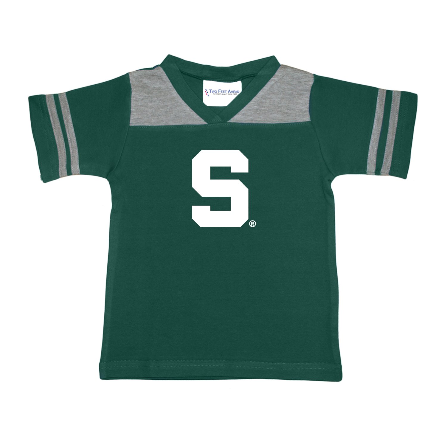 35745c165 Amazon.com   Two Feet Ahead NCAA Michigan State Spartans Toddler Boys Football  Shirt