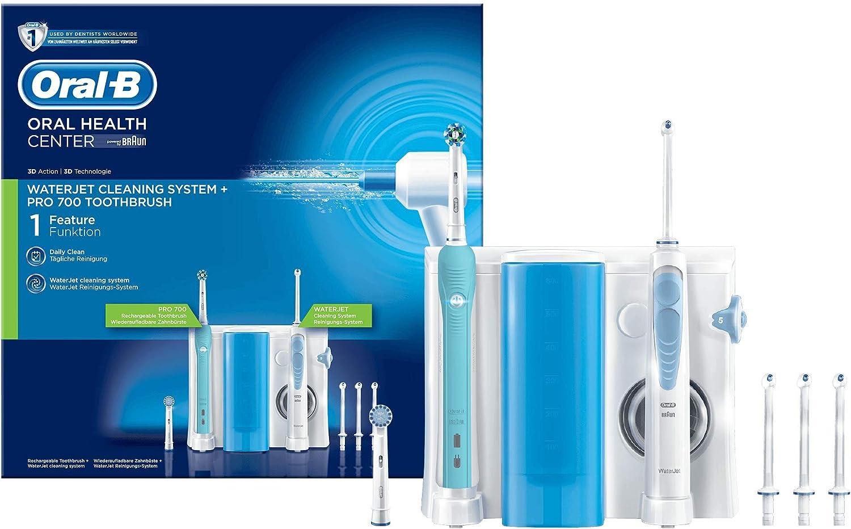 Oral-B kit para la higiene bucal, Oral-B Pro 700Cepillo eléctrico e irrigador Waterjet