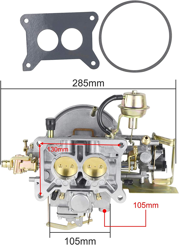 Bicos 2-Barrel Engine Carburetor Carb Compatible with For-d Mustang F100 F250 F350 Comet Engine 289 Cu 302 Cu 351 Cu Jee-p Wagoneer 360 Cu Replacement# 2100A800