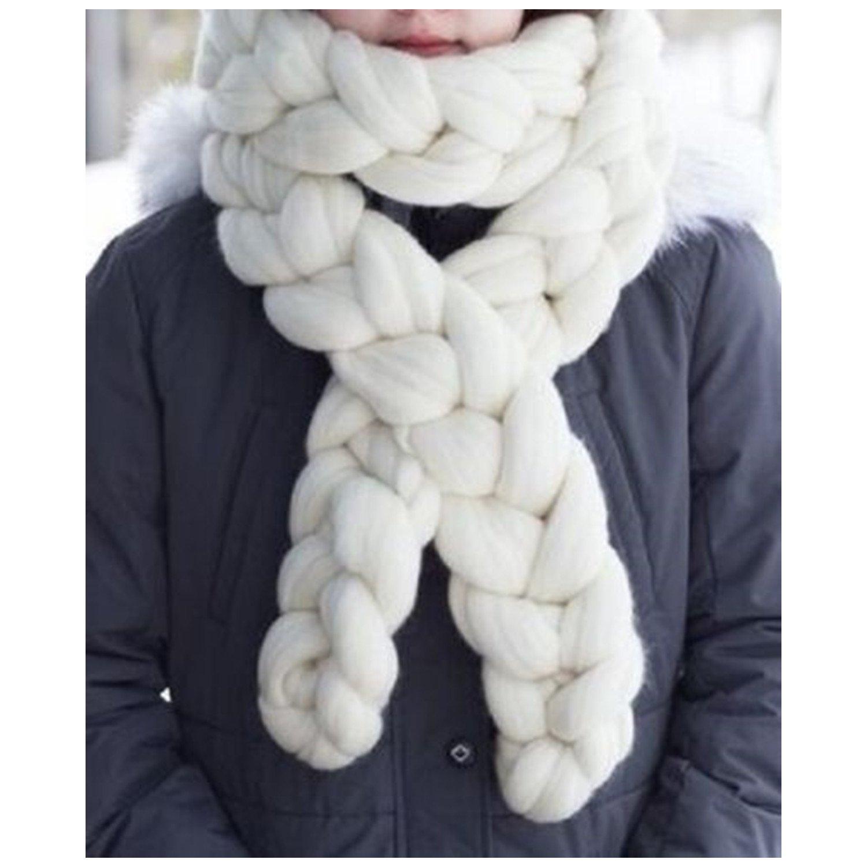 Chunky Scarf Giant Wool Yarn Knitted Scarf Braids Scarf Chain Scarf Winter Soft Scarf