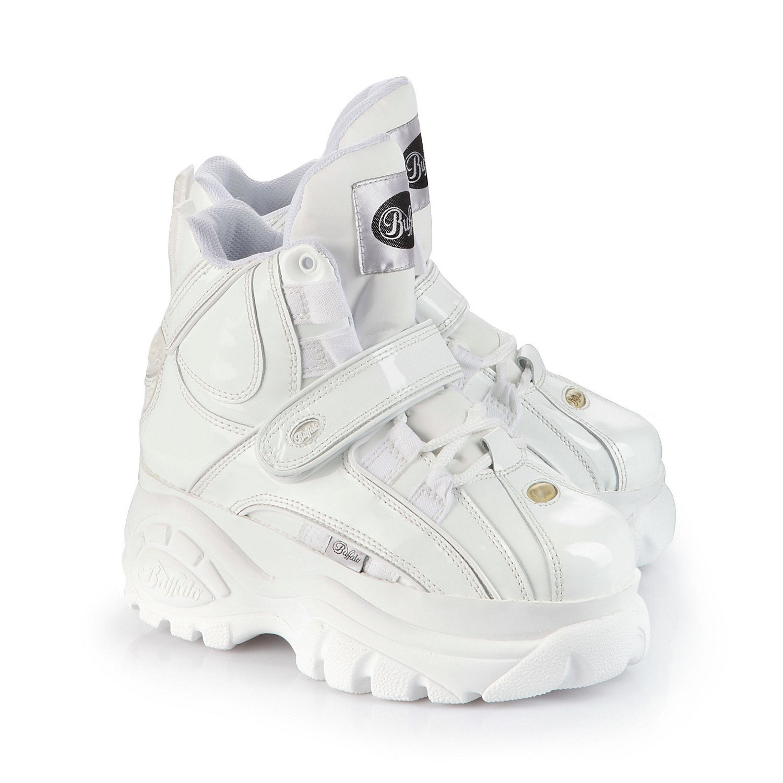 1a34e7c80180 Buffalo New Classic Boots 1348-14 WHITE Platform Shoes Trainers Sizes UK  3-8 (UK 4