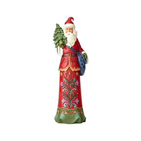 Enesco Jim Shore Heartwood Creek Filling a Tall Order Santa with Tree Stone Resin, 15 Figurine