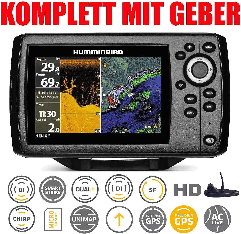 Humminbird Helix 5 Chirp GPS Di G2 Down Imaging Echolot montaje fijo: Amazon.es: Deportes y aire libre