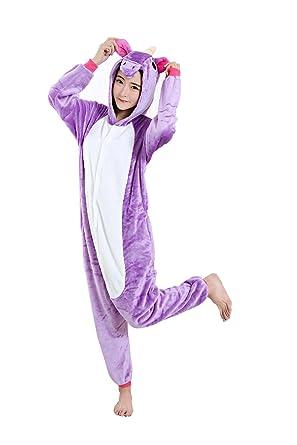 10ba5526f280 Amazon.com  Halloween Unicorn Onesie Costume Unisex-Adult Animals Unicorn  Pajamas  Clothing