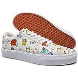 46cccdad6358a Amazon.com: Ouxioaz Womens Skateboard Shoes Pug Dog Teacher Work ...