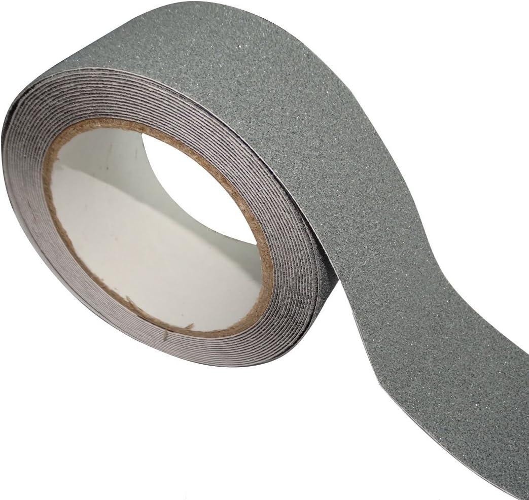 AERZETIX: 5m 50mm Cinta adhesiva antideslizante para peldaños de escalera, color gris C17833: Amazon.es: Bricolaje y herramientas