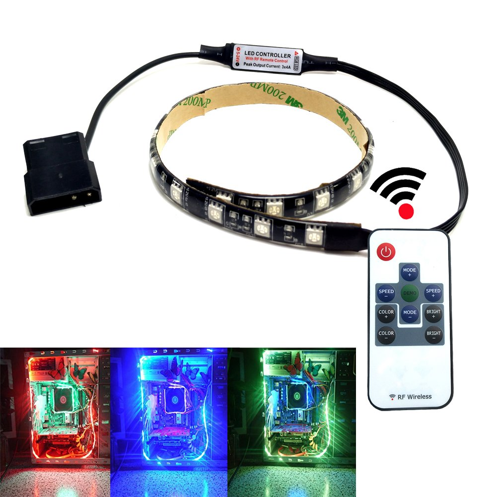 Amazon autai rgb led light strip with remote control and amazon autai rgb led light strip with remote control and magnetic for computer case computers accessories aloadofball Gallery