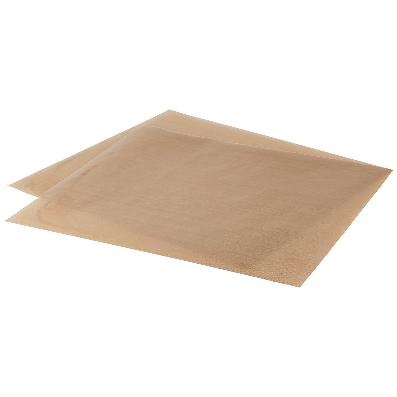 LEVIVO Papel de Horno, Silicona, Marrón, 36 x 42 x 0.1 cm, 2 Unidades: Amazon.es: Hogar