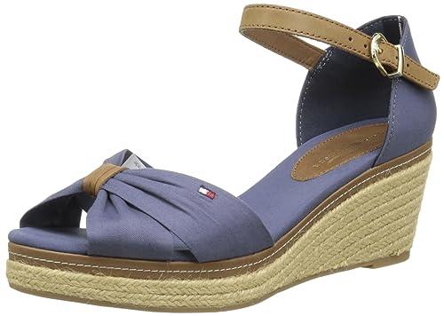 Tommy Hilfiger Elba 19D, Alpargatas para Mujer, Bleu (037), 37 EU: Amazon.es: Zapatos y complementos