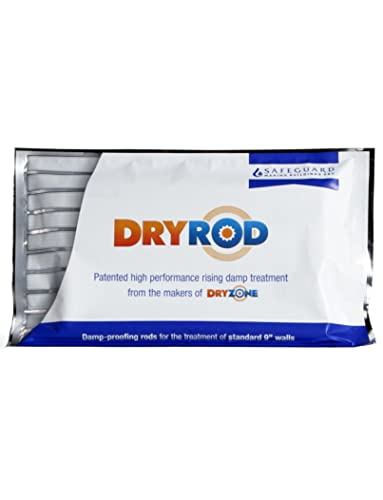 Dryrod Damp Proofing Rods - 10 Pack - Next Generation Rising Damp Treatment From The Makers of Dryzone